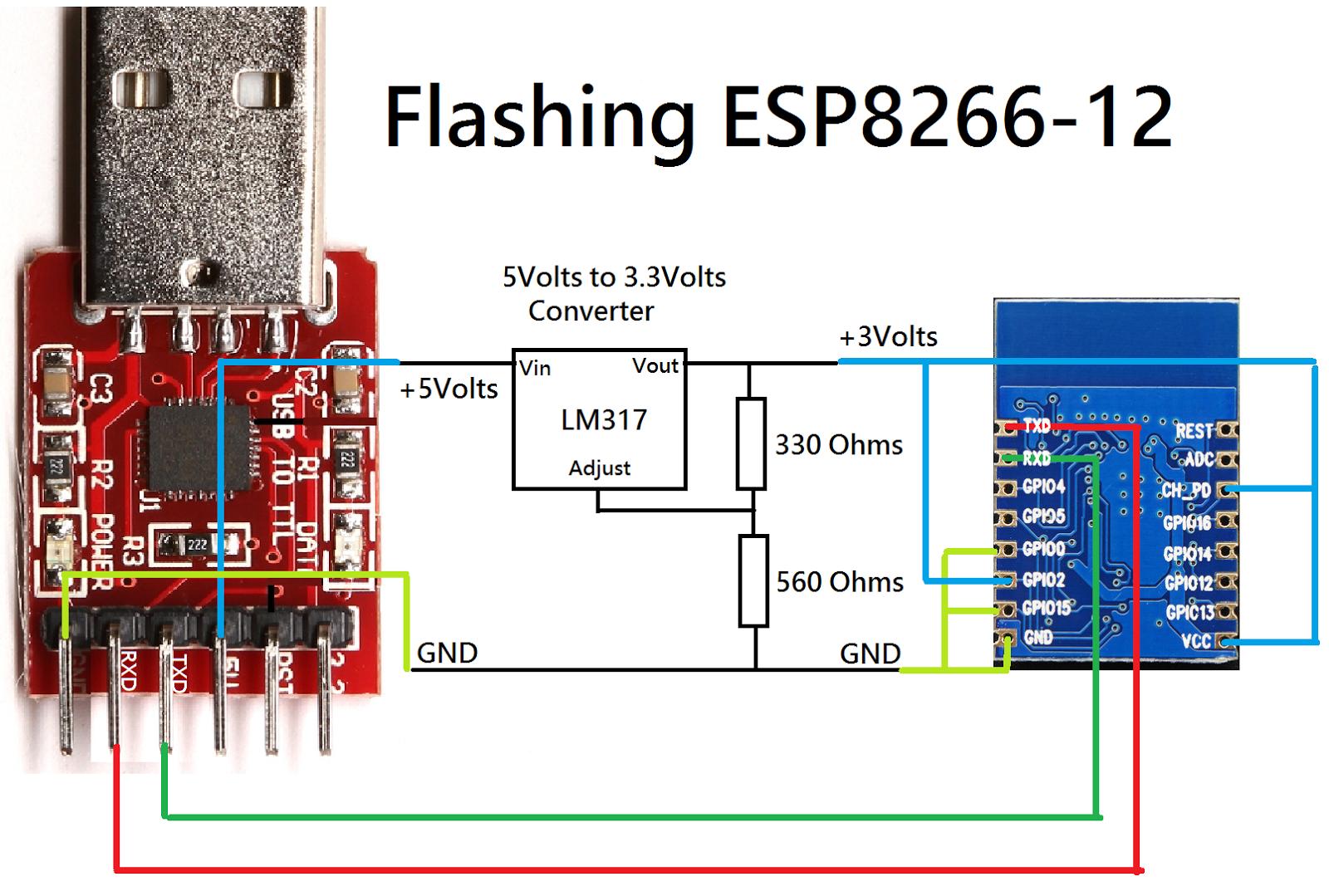 Flashing ESP8266 Datasheet